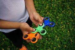 Unruhefinger-Spinnerdruck, Angstentlastungsspielzeug Lizenzfreie Stockbilder