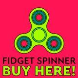 Unruhespinner Druckentlastungsspielzeug Modischer Handspinner reklameanzeige Unruhespinnerkauf hier Ideal für Kioske, Netz Stockbilder