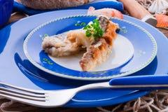 Arenques fritados transversal embutidos Foto de Stock Royalty Free