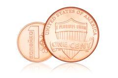 Uns centavo e copeck Imagens de Stock