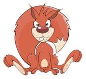 Uns desenhos animados do esquilo Imagens de Stock Royalty Free