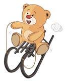 Uns desenhos animados enchidos do filhote de urso do brinquedo Fotos de Stock Royalty Free