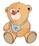 Uns desenhos animados enchidos do filhote de urso do brinquedo Fotos de Stock