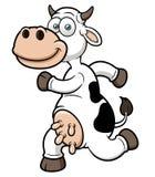 Uns desenhos animados running da vaca Fotos de Stock Royalty Free
