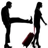 Uns homem e mulher dos pares disputam a separação foto de stock