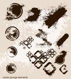 Uns lotes de elementos do grunge, ilustração do vetor