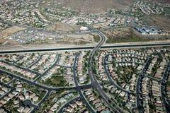 Uns oásis residenciais no deserto do Arizona Imagens de Stock Royalty Free