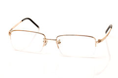 Uns vidros da cor do ouro para a vista maçante Fotografia de Stock