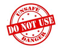 Free Unsafe Do Not Use Stock Photos - 109044403