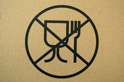 Unsafe materials for food contact warning sign Royalty Free Stock Photography