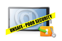 Unsafe poor security technology concept Royalty Free Stock Photos