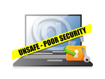 Unsafe poor security technology concept Stock Photo