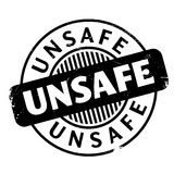 Unsafe rubber stamp Stock Photography