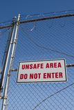 Unsafe Sign 1 Stock Photos
