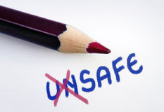 Unsafe word Royalty Free Stock Photography
