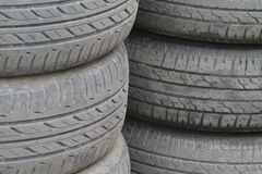 Unsafety old used tire Stock Image