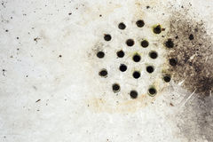 Unsanitary and dirty sink. Dirty surface of old sink Royalty Free Stock Photo