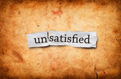 Unsatisfied concept Stock Images