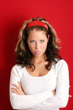 Unsatisfied woman Royalty Free Stock Photo