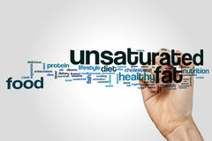 Unsaturated fat word cloud. Concept on grey background Royalty Free Stock Image