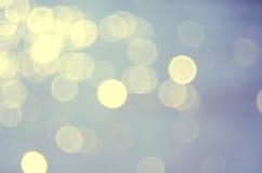 Unschärfe bokeh Wellenstrand-Zusammenfassungshintergrund Stockfoto