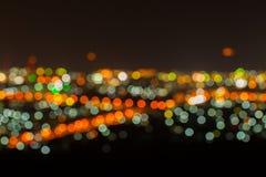 Unschärfe der Nachtansicht der Kyoto-Stadtlandschaft lizenzfreies stockfoto