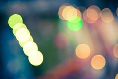 Unschärfe von bokeh Licht in der Festivalweinlese Stockfotos