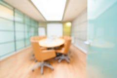Unschärfebild des leeren boardroombackground Lizenzfreies Stockbild