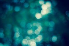 Unschärfefokus in der blauen Farbe, bokeh, Stockfoto