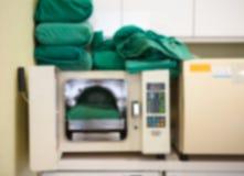 Unschärfehintergrund der sterilen Maschine Lizenzfreies Stockbild