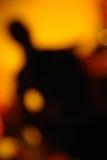 Unschärfen-Gitarrist Stockfotos