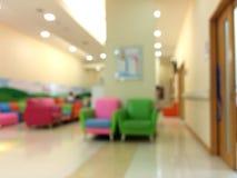 Unscharf von Kind-` s Raum im Krankenhaus lizenzfreies stockbild