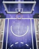 Unscharfe Draufsicht über Basketballkorb 3d übertragen Stockfotografie