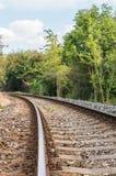Unscharfe Eisenbahnlinie Stockbild