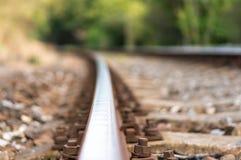 Unscharfe Eisenbahnlinie Lizenzfreie Stockfotografie