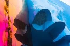 Unscharfe Farben des Architekturäußeren Stockbilder
