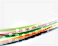 Unscharfe Farbwellen, Linien Abstrakte Hintergrundschablone des Vektors lizenzfreie abbildung