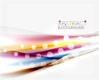 Unscharfe Farbwellen, Linien Abstrakte Hintergrundschablone des Vektors stock abbildung