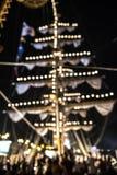 Unscharfe helle Abstraktion nachts, buntes Licht Lizenzfreies Stockfoto