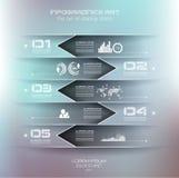 Unscharfe Infographic-Designschablone Stockfoto