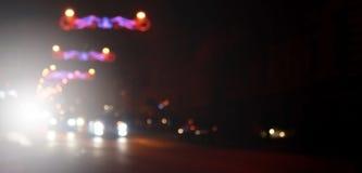 Unscharfe Landschaft der Nachtstadt Lizenzfreies Stockfoto