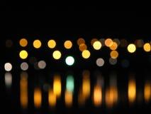 Unscharfe Leuchten Stockfoto