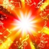 Unscharfe Lichter in Form von musikalischen Zeichen stock abbildung