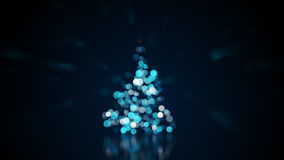 Unscharfe Lichter auf Weihnachtsbaum Lizenzfreies Stockfoto