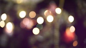 Unscharfe Lichter und unscharfer Hintergrund stock video