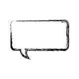 unscharfe Schattenbildrechteck-Dialogfeldikone stock abbildung