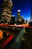 Unscharfe Scheinwerfer in Los Angeles Lizenzfreie Stockbilder