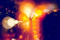 Unscharfe Stadt-Leuchten Lizenzfreie Stockfotografie