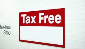 Unscharfe steuerfreie Aufkleber in den Speichern Lizenzfreies Stockfoto