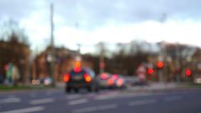 Unscharfe Szene von Unfocused Autos auf Schnitt stock footage